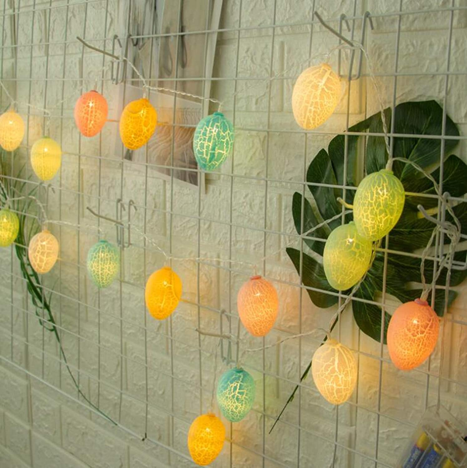 Impress Decorations for Easter Hunt Party Birthday Wedding 2 Modes 8.5ft Easter Decoration LED Fairy String Lights with 20 Led Lights Sorinly Easter Eggs Lights