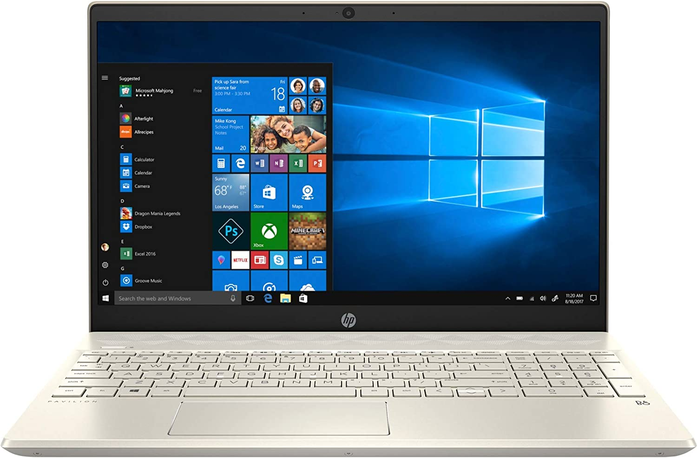 "New 2020 HP Pavilion Lunar Gold Laptop, 15.6"" Full HD FHD Intel Core 4-Core i5-1035G1, Intel UHD Graphics, 8 GB SDRAM, 512 GB Intel SSD + 32 GB Intel Optane Memory Windows 10"