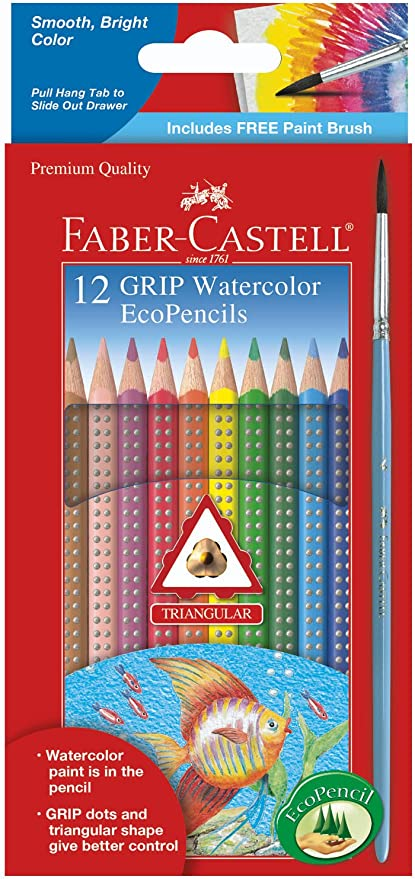 Faber-Castell 12 Grip Colored Ecopencils