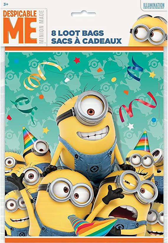 NEW Despicable Me Minion Key Ring Boys Girls Party Bag Filler Birthday Gift