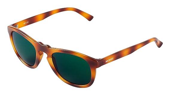 MR.BOHO Unisex Tortoise Williamsburg with Dark Green Lenses Sunglasses, Carey, One Size MR BOHO