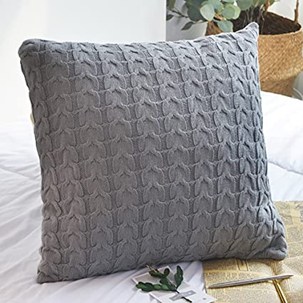 Amazon Prosshop 100 Cotton Knit Cushion Covers Decorative