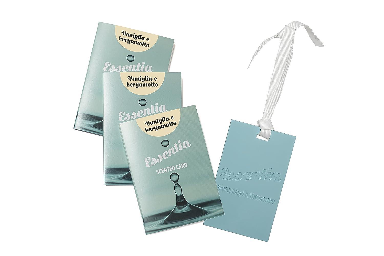 CARDS PROFUMATE AL SILICONE- SET 3 CARDS FRAGRANZA VANIGLIA E BERGAMOTTO, IDEALI PER PROFUMARE CASSETTI,ARMADI,BORSE,AUTO.... ESSENTIA