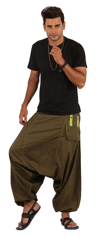 The Harem Studio Hombre Mujer Pantalones Harem Unisex, Bombachos livianos, Hippies, algodón, Casual, Boho - Estilo DP