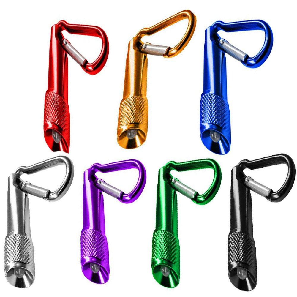 7pcs Mini Keychain Taschenlampe, FLYING_WE Batteriebetriebene Taschenlampe, für Camping, Wandern, Jagen, Rucksackreisen, Angeln und andere Outdoor-Aktivitäten. (7 Farben) für Camping