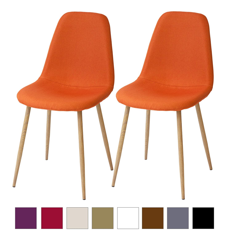 Albatros Retro Esszimmerstühle FANO 2-er SET Orange, SGS gestestet, Sitzgruppe