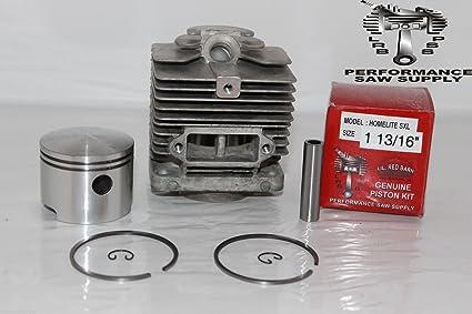 Homelite Super XL, Big Red, Old Blue, XL12 Cylinder & Piston Assembly, 1  13/16