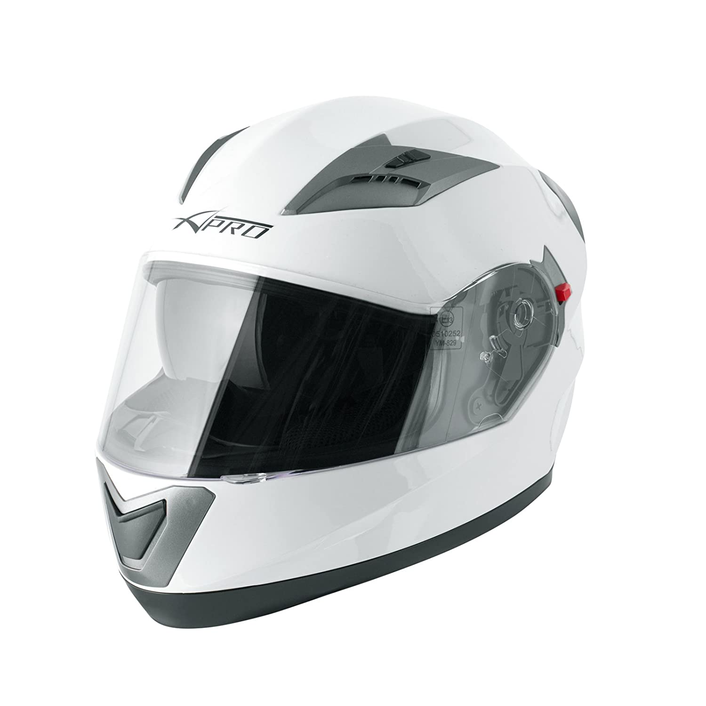 A-Pro Casco Integrale Moto Scooter Visierino Parasole Touring Nero Opaco M