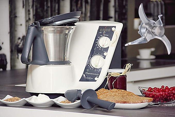Poweka TM21 Cuchillas de Acero Inoxidable de Repuesto Vorwerk Thermomix TM21 Robot de Cocina con Junta: Amazon.es