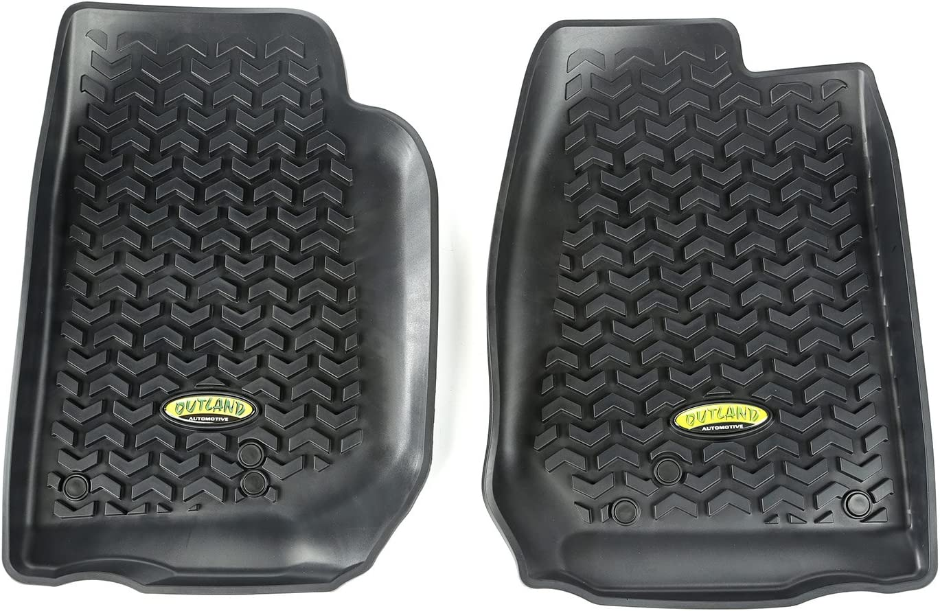Outland 391292011 Black Front Row Floor Liner For Select Jeep Wrangler Models