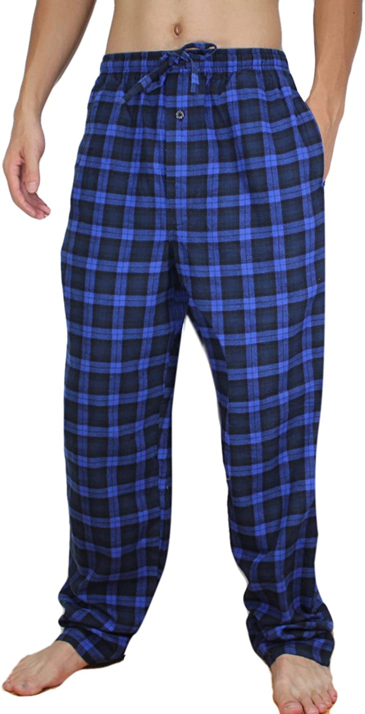 Stafford Mens Sleep Lounge Pajama Pants Classic Fit Navy Pink Flamingos L-XXL