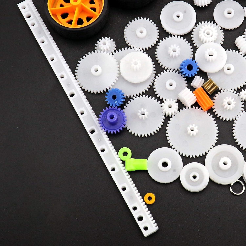 Create Idea 78-teiliges Spielzeug-Auto-Achsriemen Kunststoff Paket Modell-Zubeh/ör Set DIY RC Flugzeug Roboter Projekt Sortiert