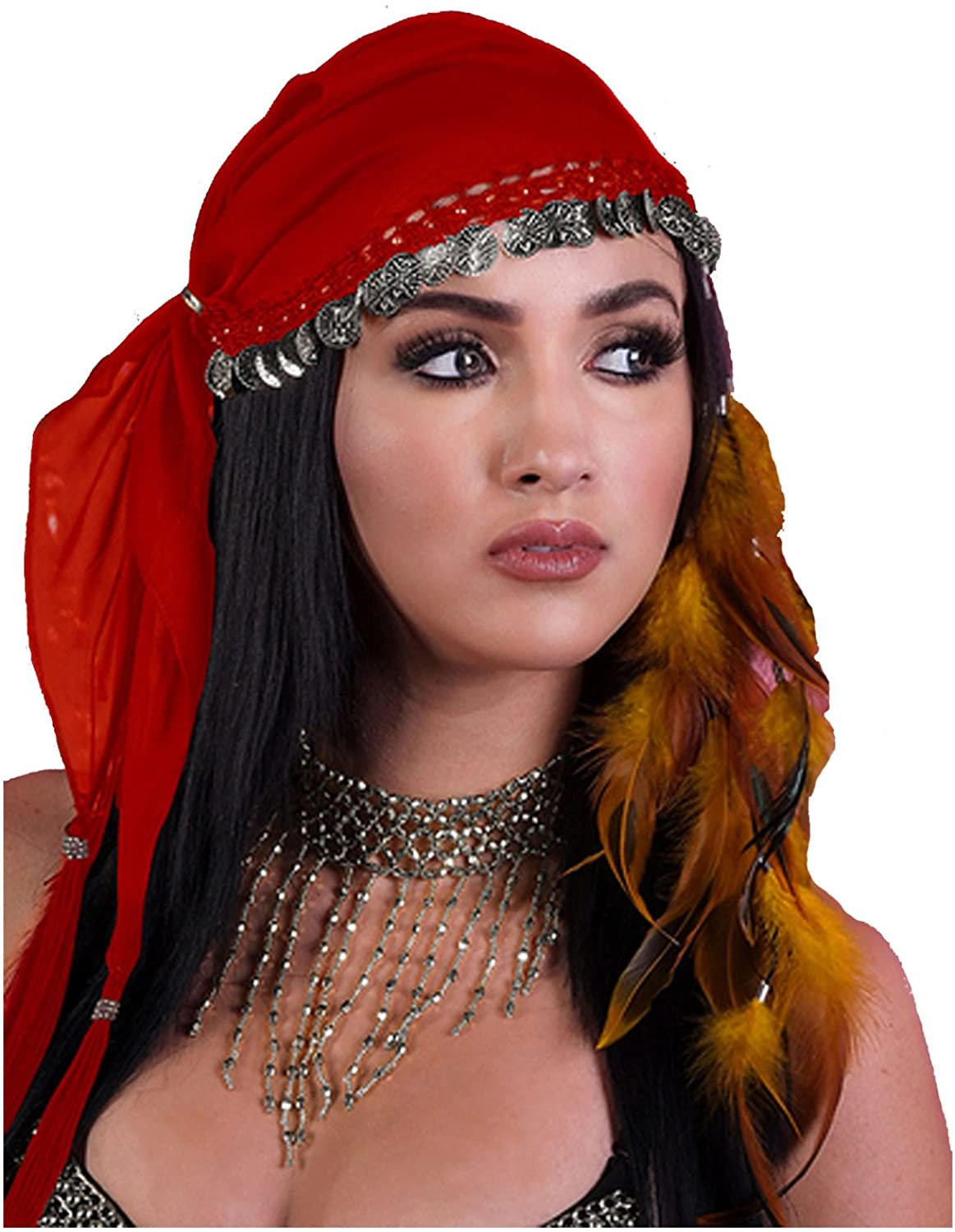 Gypsy Head Scarf With Coins