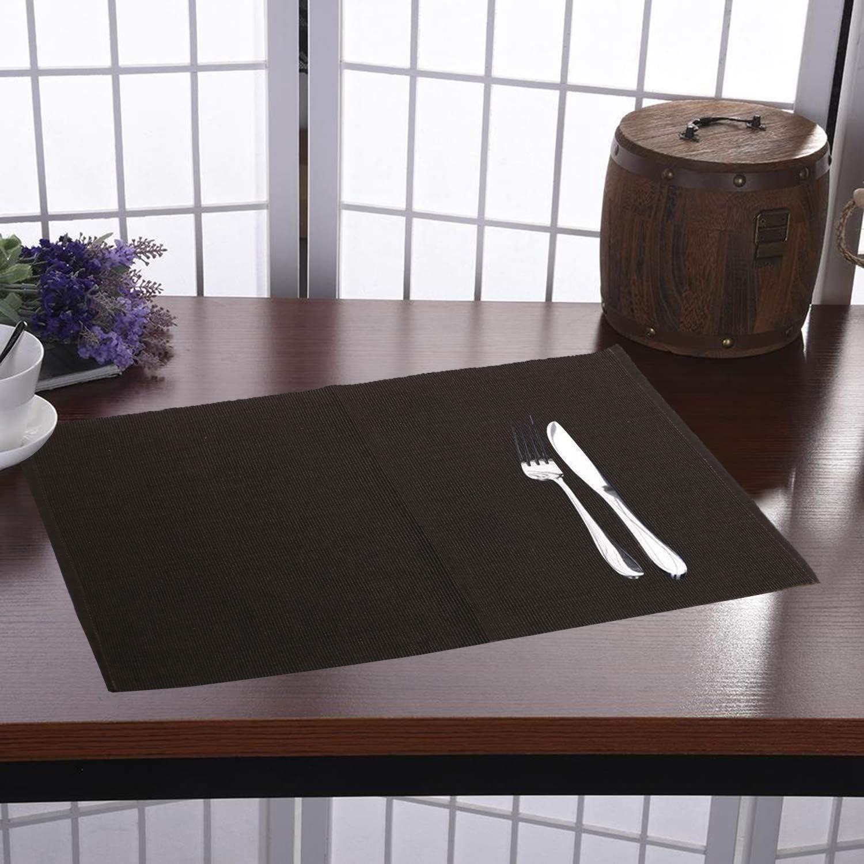 Set de Table en Coton pour Table de Cuisine 48 X 33 Cm Set de 4 Sets de Table Gris RAJRANG BRINGING RAJASTHAN TO YOU Set de Table Marine