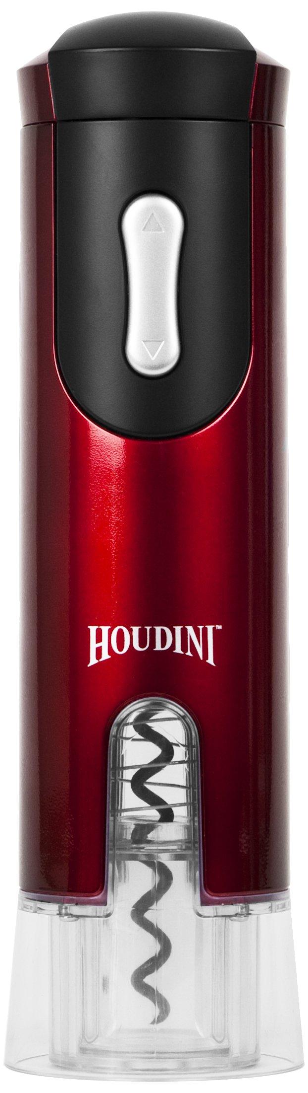 Houdini Electric Corkscrew (Metallic Red)