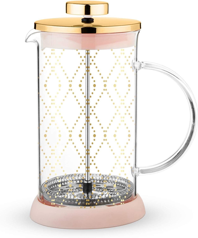 Aozora Tea Press Mini Plunger Filter Tea Brewer Strainer Pink /& Green