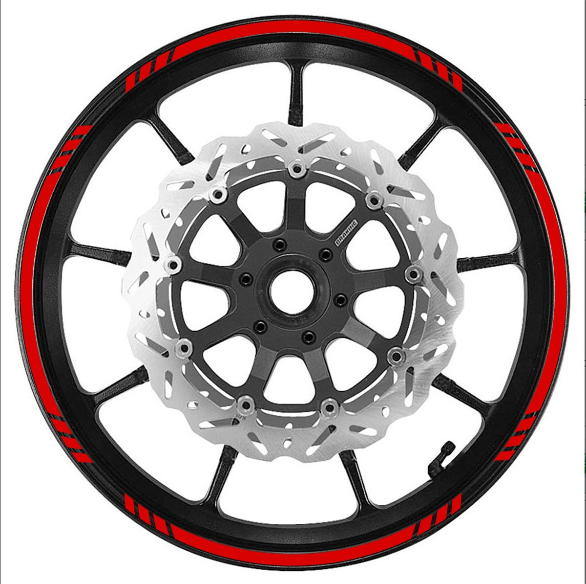 RED Wheel Rim Tape Graduated Stripe fit ALL Makes of Motorcycles, Cars, Trucks Vehicleartz