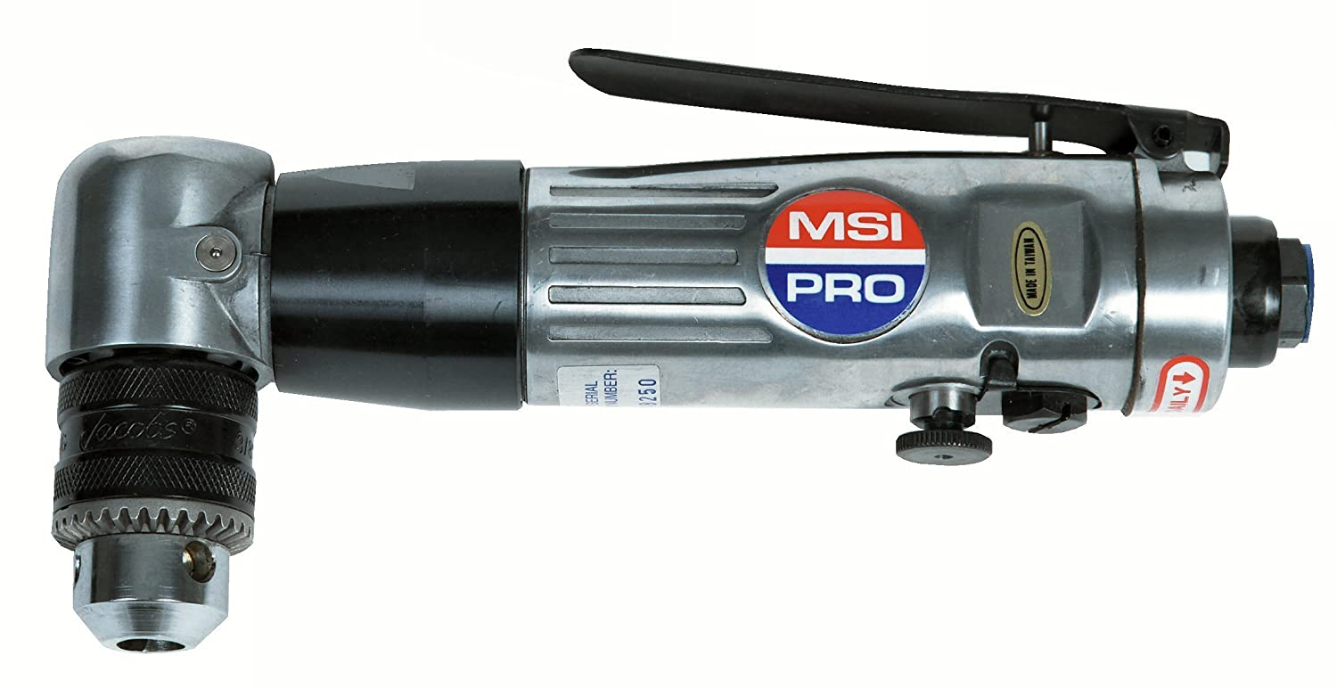 MSI-PRO SM709R 3 8-Inch Reversible Pneumatic Drill with Keyed Jacobs Chuck