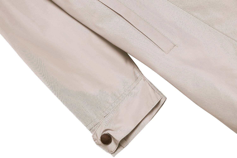 ANGVNS Stylish Ladies Women Front Zip Long Sleeve Hoodie Windcoat Trench Coat Jacket