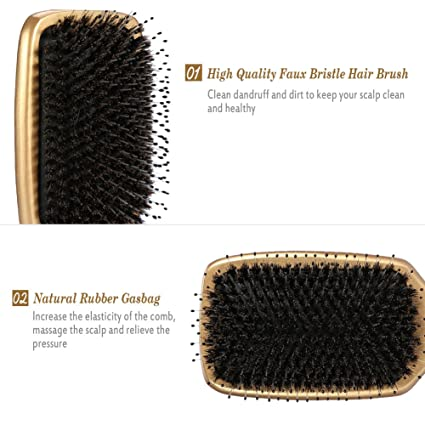 Peine del masaje antiestático cepillo de pelo peinado la circulación sanguínea, masaje sano del cuero cabelludo peine: Amazon.es: Belleza