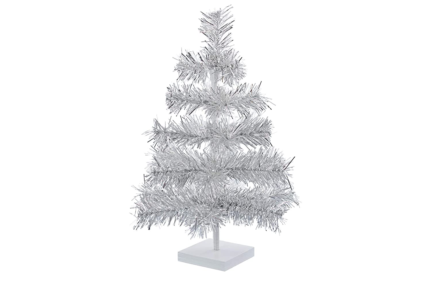 Small Silver Christmas Tree.Est Lee Display Ld 1902 24 Silver Christmas Trees Artificial Aluminum Brush Branches Classic Tinsel Feather Tree Tabletop Christmas Decoration Tree