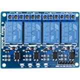 ELEGOO 4 Channel DC 5V Relay Module with Optocoupler for Arduino UNO R3 MEGA 2560 1280 DSP ARM PIC AVR STM32 Raspberry…