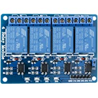 ELEGOO 4 Channel DC 5V Relay Module with Optocoupler for Arduino UNO R3 MEGA 2560 1280 DSP ARM PIC AVR STM32 Raspberry Pi