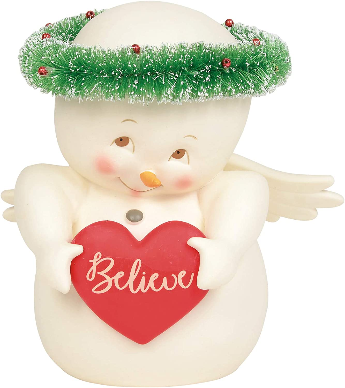 Department 56 Snowpinions Believe Figurine, 6.75 Inch, Multicolor