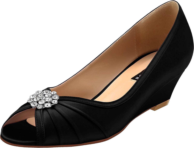 ERIJUNOR Women Comfortable Low Heel