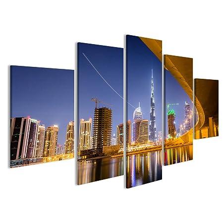 islandburner Quadro Moderno Skyline di Dubai Stampa su Tela ...