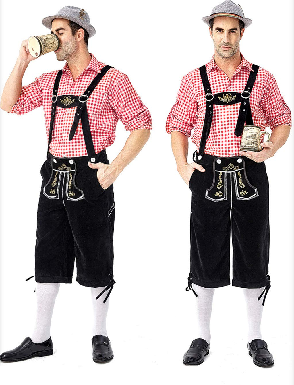 KELOVE Men's German Bavarian Oktoberfest Classic Costume for Carnival,German Beer Festival Costume by KELOVE