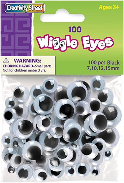 SEW ON WIGGLE GOOGLE GOOGLY EYES FOR CRAFTS 16 PIECES 15 MM