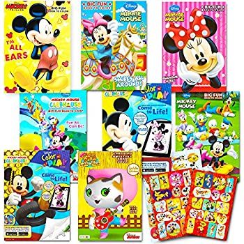 Disney Coloring Books For Kids Toddlers Bulk Set 8 And Sticker Pack