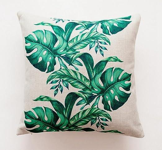 Kogior Cojines, Fundas cojines,selva tropical, hojas, cactus ...