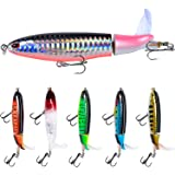 Fishing Gifts for Anglers Fishing Lure Set Bass with Topwater Floating Rotating Tail Artificial Hard Bait Fishing Lures with