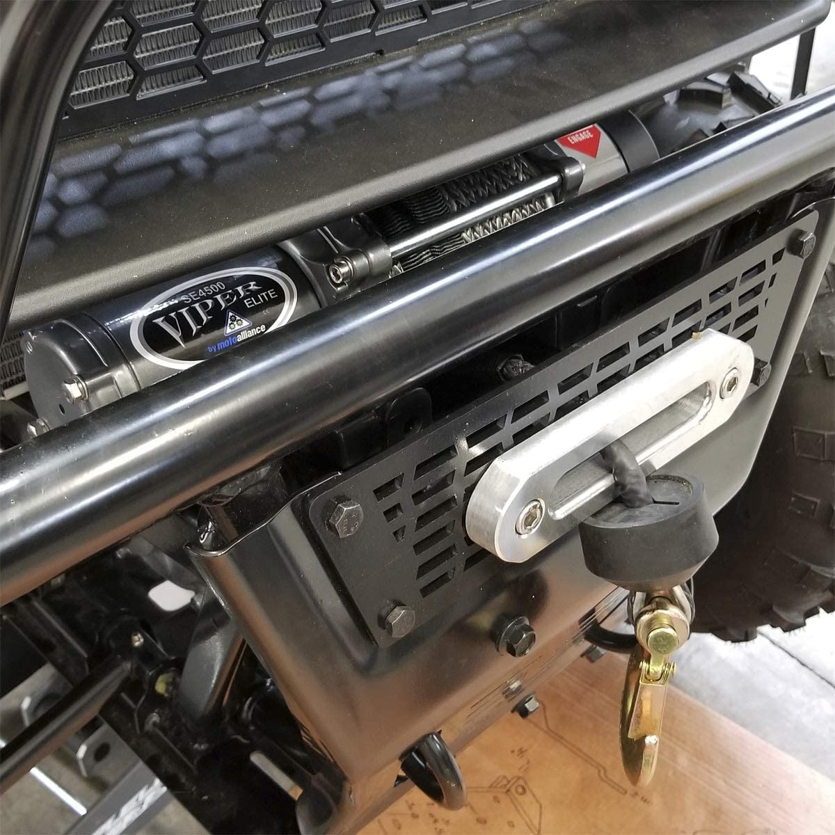 VIPER UTV Winch Fairlead Mount Plate for Textron Stampede Towing ...
