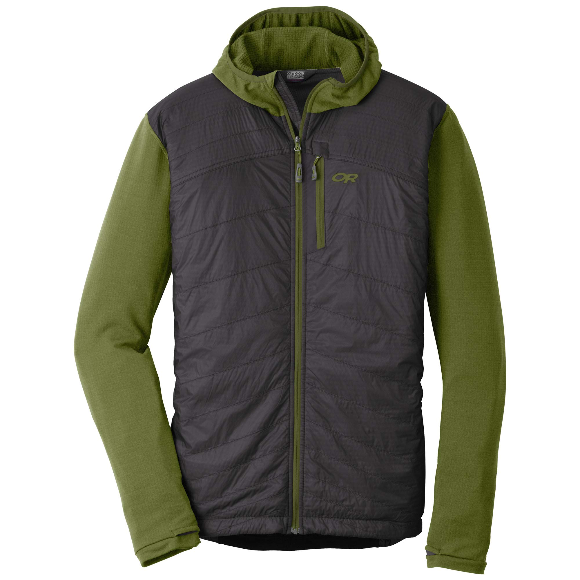 Outdoor Research Men's Deviator Hoody, Seaweed/Storm, Small