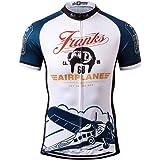 Thriller Rider Sports サイクルジャージ メンズ 男性自転車運動服装半袖 Franks Airplane