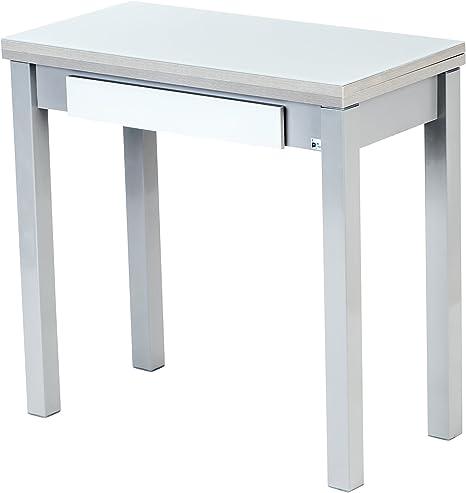 Portus Livre Table De Cuisine 80 X 40 80 Cm Avec Tiroir Blanc
