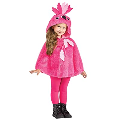 Fun World Little Girl's Flamingo Hooded Cape Baby Costume, Pink: Clothing