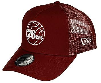 new product c48f2 1ec58 New Era NBA Essential Trucker Snapback Cap ~ Philadelphia 76ers Red