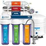 Express Water Ultraviolet Reverse Osmosis Water Filtration System – 6 Stage RO UV Water Sterilizer with Faucet and Tank – UV