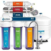 Express Water Sistema de filtración de agua de ósmosis inversa ultravioleta – 6 etapas RO UV esterilizador de agua con…