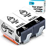 Smart Ink Compatible Ink Cartridge Replacement for HP 902 XL 902XL (Black, 2 Pack) with Advanced Chip Technology to use with