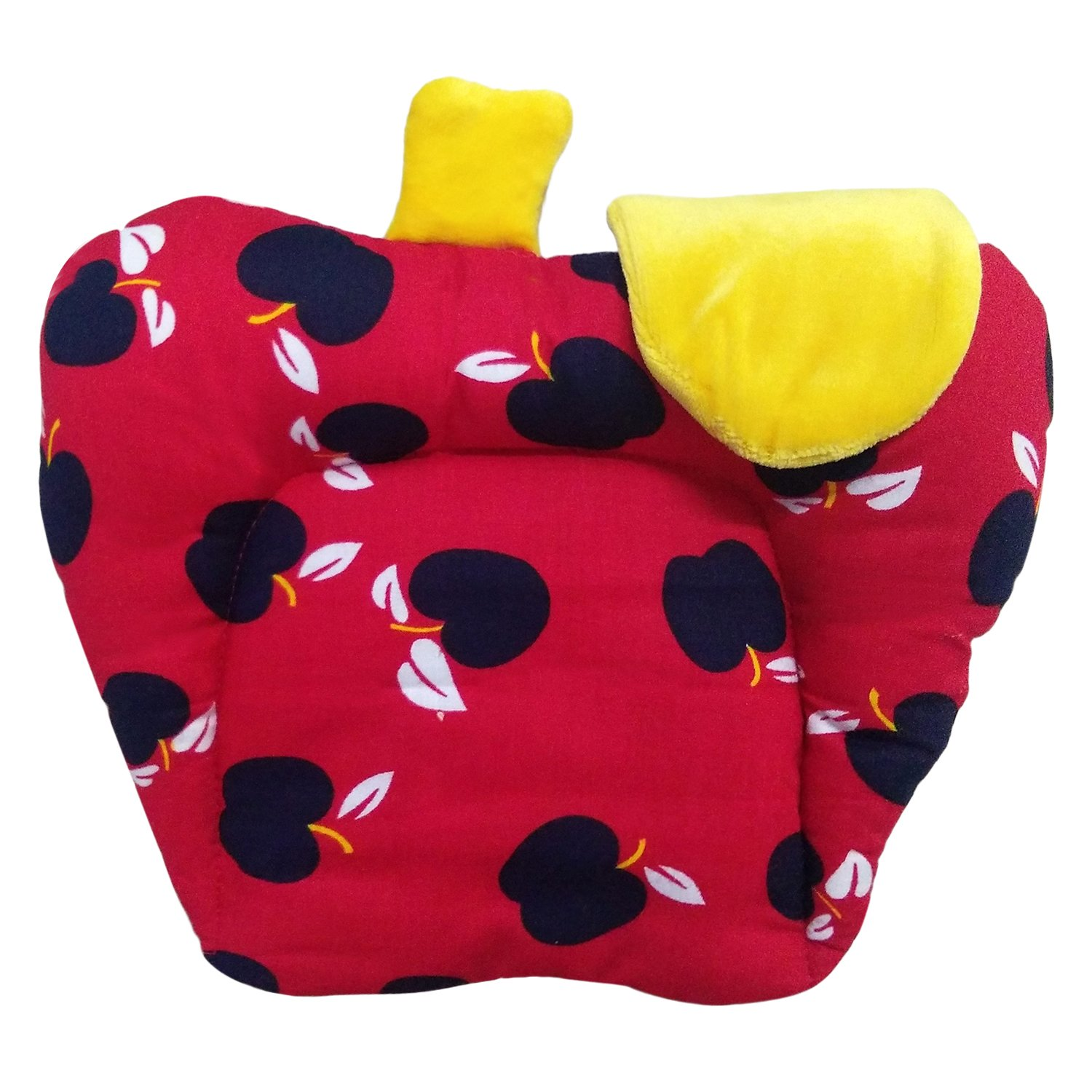 Littly Mustard Seeds Cotton Baby Pillow - Apple Shape (Red)