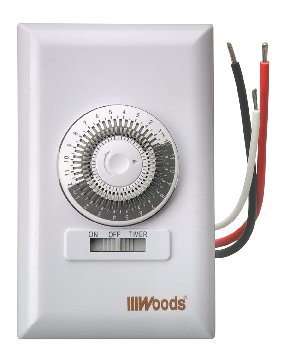 Woods 59745wd Mechanical Repeats Daily Wall Switch Timer Light Wiring Ceiling Fan With Two Switches