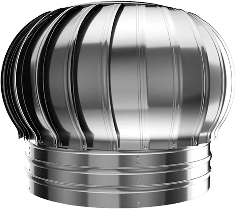 LTLJX Cubierta de Chimenea, Giratorio Extractor de Humo Pivotantes, Chimeneas Estufa de Acero Inoxidable Sombrero Eolico para Todos Los Sistemas de Ventilación de Pared,250mm
