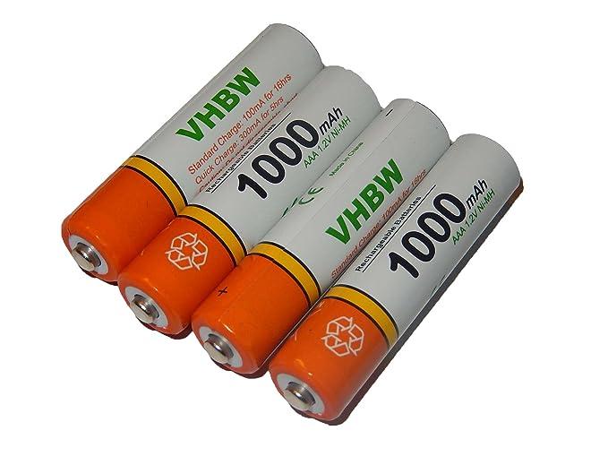 Vhbw 4 x aaa micro r3 hr03 akku 1000mah für: amazon.de: elektronik