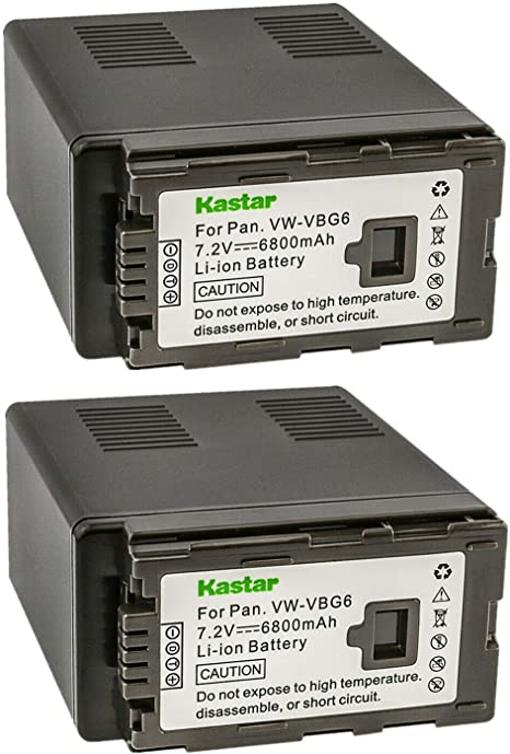 Battery Replacement for PANASONIC VW-VBG6