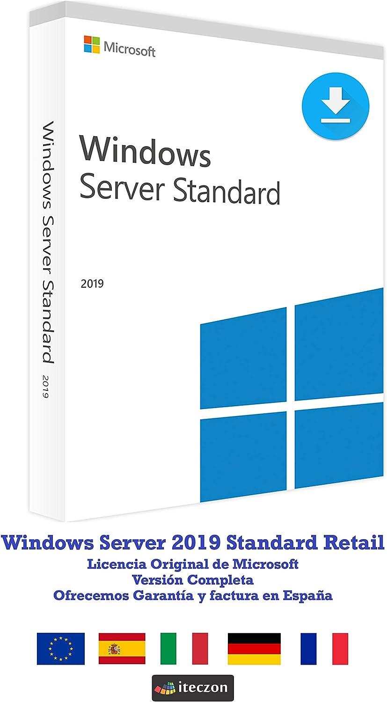 Windows Server 2019 Standard Español 1 Licencia (ESD)  Entrega electrónica de software Download + instrucciones de iTeczon: Amazon.es: Software